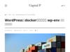 WordPress公式dockerパッケージ wp-env による開発環境構築 - Tips - Capital P - WordPressメディア