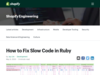 How to Fix Slow Code in Ruby – Shopify Engineering